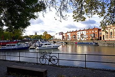 Bathurst Basin, the harbour, Bristol, England, United Kingdom, Europe