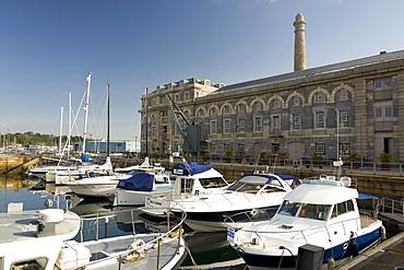 The marina, Royal William Yard, Plymouth, Devon, England, United Kingdom, Europe