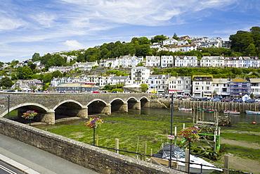 Looe harbour and bridge, Cornwall, England, United Kingdom, Europe
