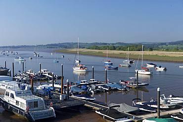 Moorings on the River Exe at Topsham, Devon, England, United Kingdom, Europe