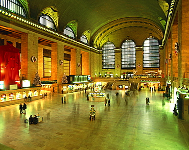 Interior of Grand Central Station in New York, United States of America, North America