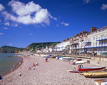 Sea front, Sidmouth, Devon, England, United Kingdom, Europe
