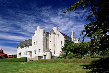 Hill House, built 1902-1904 by Charles Rennie Mackintosh, Helensburgh, Scotland, United Kingdom, europe