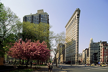 The Flatiron Building, W. 23rd and Broadway, New York, New York State, United States of America, North America