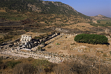 Curetes Way and Library of Celsus, Ephesus, Anatolia, Turkey, Asia Minor, Eurasia