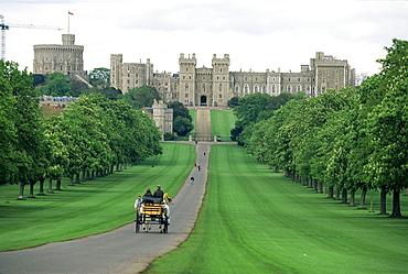 The Long Walk and Windsor Castle, Windsor, Berkshire, England, United Kingdom, Europe