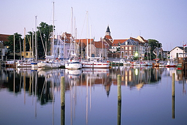 Faborg harbour, island of Funen, Denmark, Scandinavia, Europe