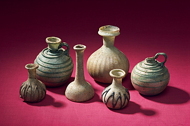 Glass bottles from Tylos period, New National Museum, Manama, Bahrain, Middle East