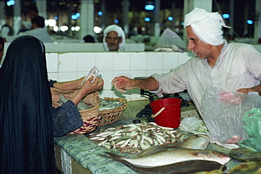 Trade at the fish market, Manama, Bahrain, Middle East