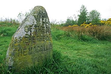 Battle site, Culloden Moor, Highland region, Scotland, United Kingdom, Europe
