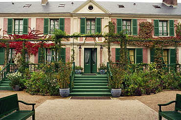 House of the painter Monet at Giverny in Haute Normandie, France, Europe