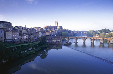 Town of Albi, Tarn River, Tarn Region, France, Europe