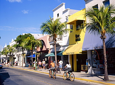 Street scene on Duval Street, Key West, Florida, USA