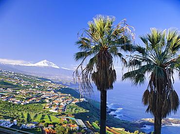 North coast and Mount Teide, Tenerife, Canary Islands, Spain