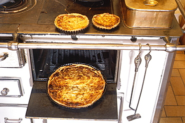 French onion tarts and oven, France, Europe