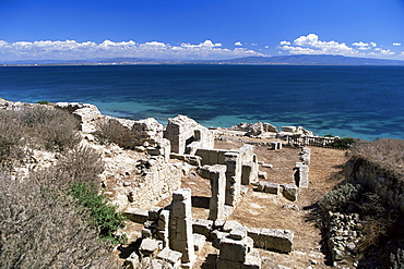 Tharros, Roman site near Oristano, Sardinia, Italy, Mediterranean, Europe