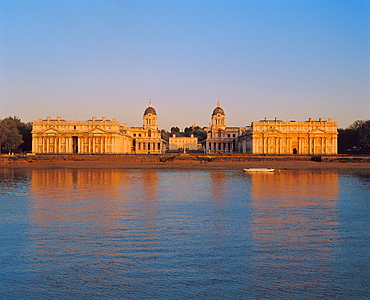 Royal Naval College on the River Thames, Greenwich, London, England, UK