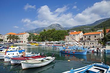 Harbour with fishing boats, Bol, Brac Island, Dalmatian Coast, Croatia, Europe