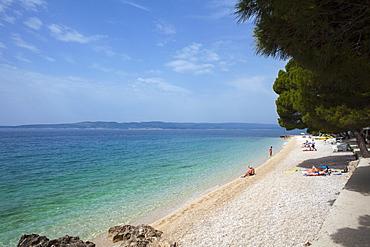 Beach, Brela, Dalmatian Coast, Croatia, Europe