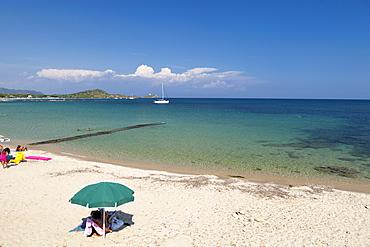Beach, Baia di Nora, Cagliari, Sardinia, Italy, Mediterranean, Europe