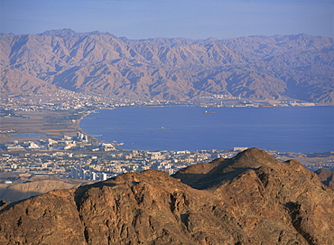 View over Gulf of Eilat, Eilat, Israel, Middle East