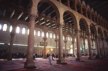 Interior, Omayad mosque, Damascus, Syria, Middle East