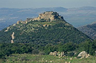 Nimrod Crusader fort, Galilee Panhandle, Upper Galilee, Israel, Middle East