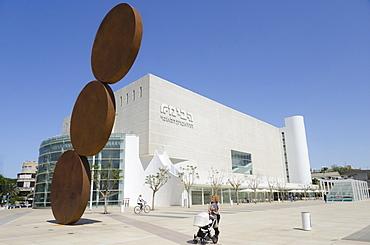 Refurbished Habima building of the National Theatre, Tel Aviv, Israel, Middle East