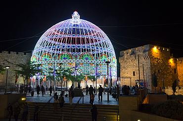 The Jerusalem Festival of Light, Jerusalem Old City, Israel, Middle East