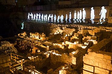 The Jerusalem Festival of Light at Dung Gate in Jerusalem Old City, Israel, Middle East