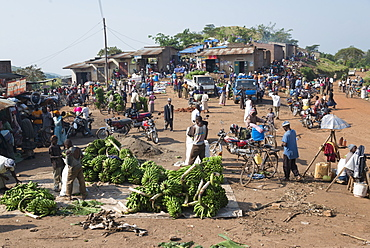 Market day at a trading post, Fort Portal area, Uganda, East Africa