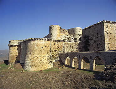 Crusader castle at Crac des Chevaliers, UNESCO World Heritage Site, Syria, Middle East