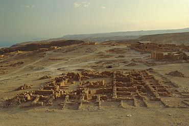 Archaeological site, Masada, Israel, Middle East