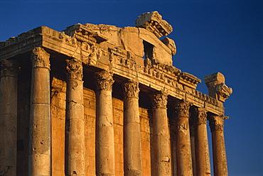 Roman temple of Bacchus, Baalbek, UNESCO World Heritage Site, Lebanon, Middle East