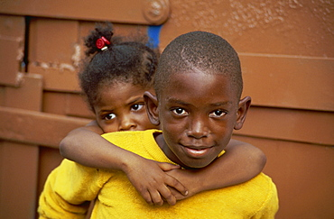 Young children, St. Thomas, Virgin Islands, West Indies, Caribbean, Central America