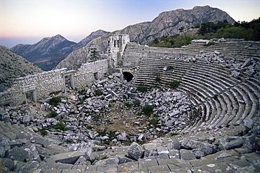 The amphitheatre at Termessos, Anatolia, Turkey, Asia Minor, Eurasia