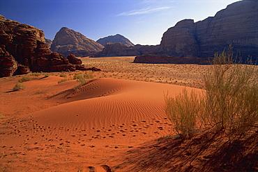 The desert at Wadi Rum, Jordan, Middle East