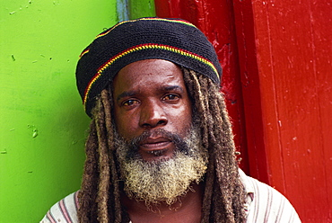 Portrait of man, Dominica, West Indies, Caribbean, Central America