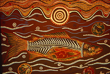 Painting from the Dreamtime, Aboriginal art, Australia, Pacific