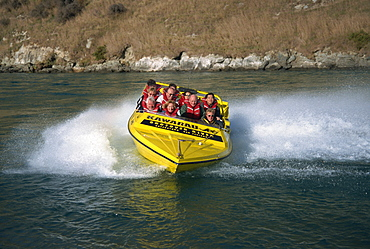 Jet boating, Kawarau River, Queenstown, South Island, New Zealand, Pacific