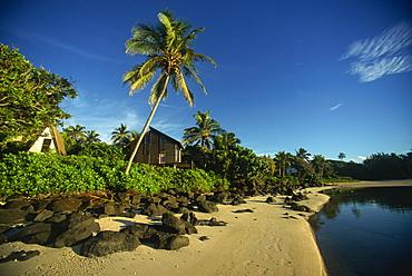 Coastline, Taakoka Island, Rarotonga, Cook Islands, Pacific Islands, Pacific