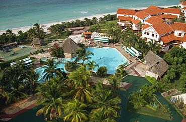 Aerial view of pool, Hotel Bella Costa, Varadero, Cuba, West Indies, Central America