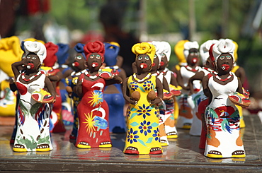 Traditional colourful pottery characters, Cuba, West Indies, Central America