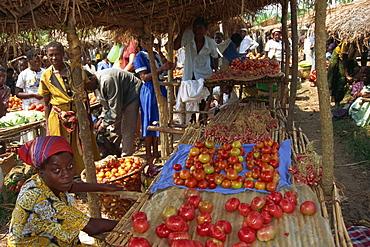Vegetable markets, Virunga Volcanoes, Uganda, East Africa, Africa