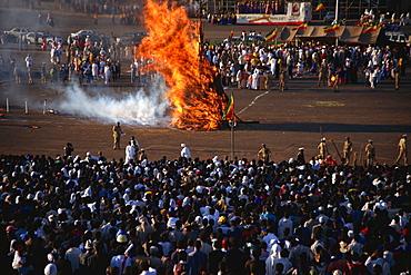 Burning ceremony, Mescal celebration, Addis Ababa, Ethiopia, Africa
