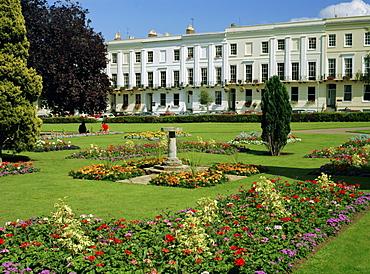 Imperial Gardens and Regency Terrace, Cheltenham, Gloucestershire, England, UK, Europe