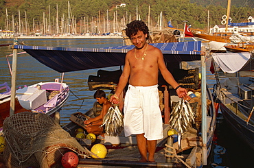 Fresh fish for local restaurant, Marmaris, Anatolia, Turkey, Asia Minor, Eurasia