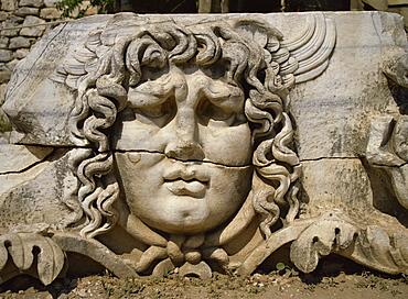 Head of Medusa, Didyma, Anatolia, Turkey, Asia Minor, Eurasia