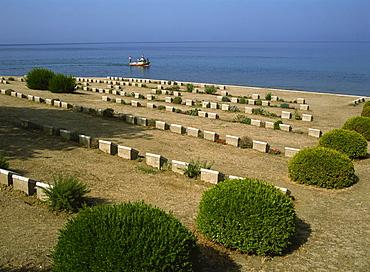War graves near Anzac Cove, Gallipoli, Turkey, Europe