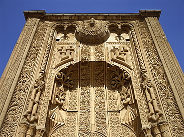 The portal of the Seljuk Ince Minare Medrese, now the Museum of Wood and Stone Carving, Konya, Anatolia, Turkey, Asia Minor, Eurasia